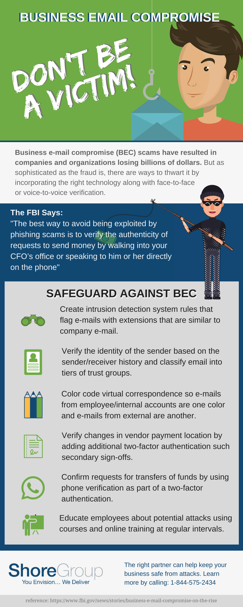 Business Email Compromise Infographic
