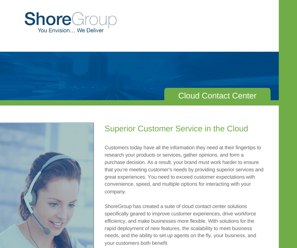 Cloud Contact Center Datasheet Cover