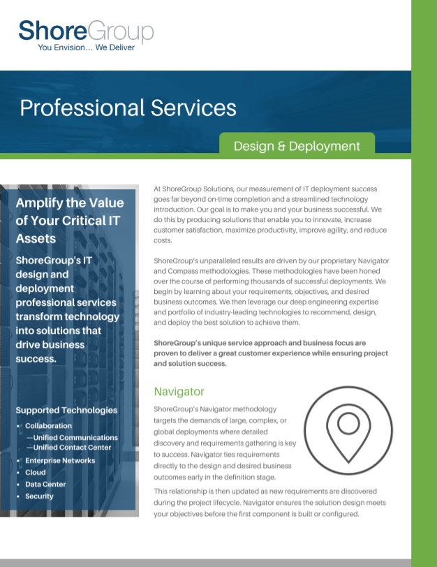 Professional Services Design and Deployment