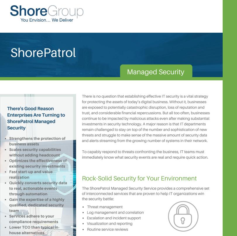 ShorePatrol Managed Security Datasheet