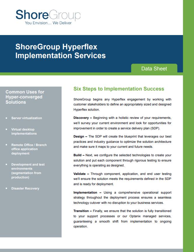 shoregroup hyperflex implementation services