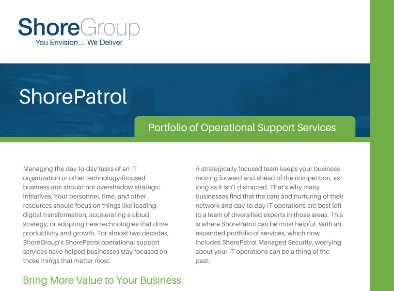 ShorePatrol Operational Support Services Datasheet Cover