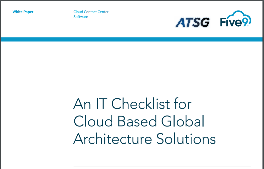 IT checklist for cloud based global architecture solutions