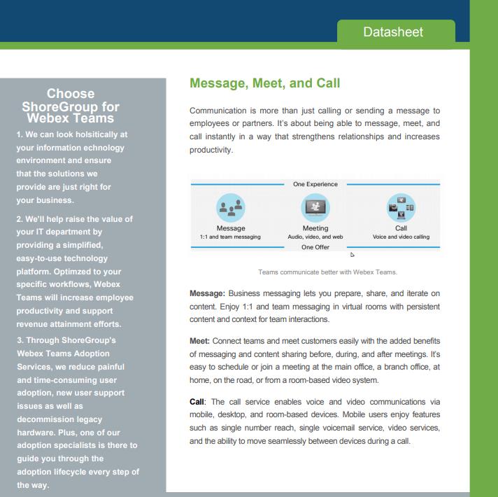 Cisco Webex Teams Datasheet